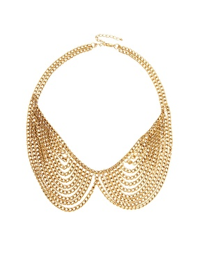 ASOS Multi Chain Rounded Collar Necklace $24.90