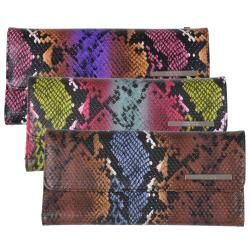 Kenneth Cole Reaction Women's Multi-color Python Print Clutch Wallet
